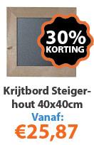 Krijtbord Steigerhout 40x40 actie