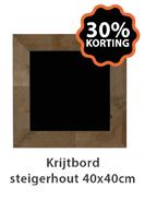 Krijtbord Steigerbord 40x40cm