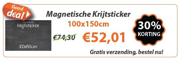 Magnetische krijtsticker 100x150 actie
