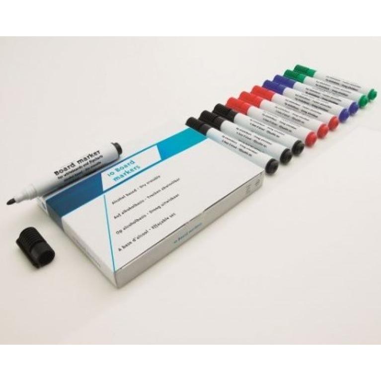 Whiteboard Stiften 10 stuks kleuren