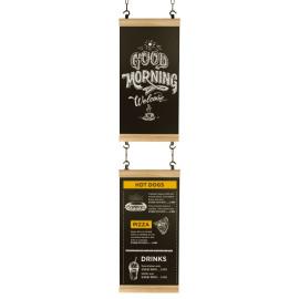 Krijtbord Hook Eiken Industrial Combinatie-set met krijttekening