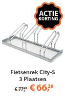 Fietsenrek City-S 3 Plaatsen