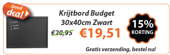 Krijtbord Budget Zwart 30x40