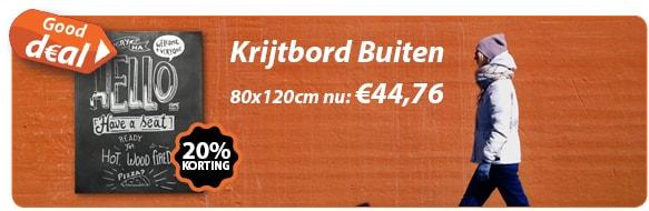 Krijtbord Buiten 80x120