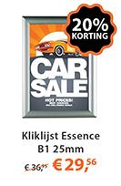 Kliklijst essence b1 25mm