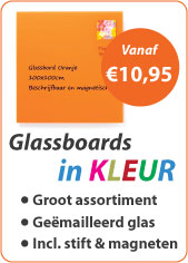 Glassboards in kleur