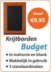 Krijtborden Budget