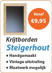 Krijtborden Steigerhout