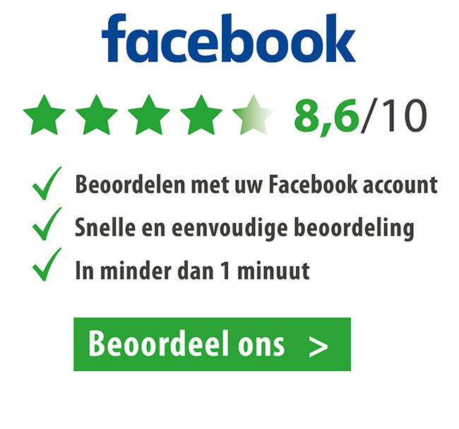 Beoordeel ons op Facebook